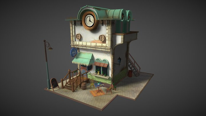 Jasmine-Market 3D Model