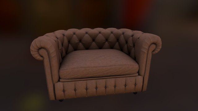 Chesterfield armchair 3D Model