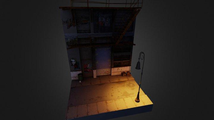City mood scene 3D Model