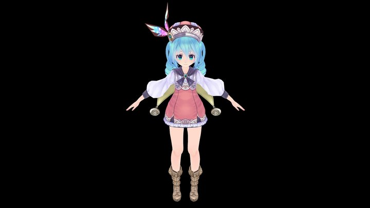 Little Magical Miku 3D Model