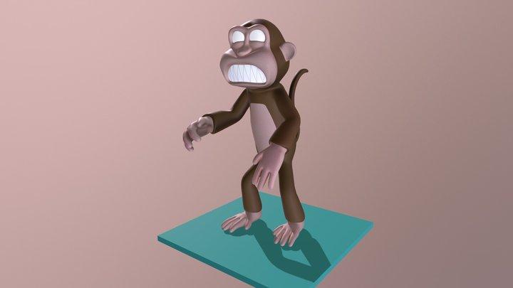 Monkey zombie 3D Model