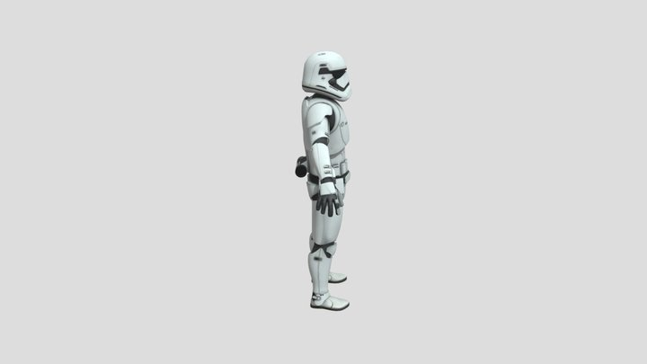 First Order Stormtrooper non rigged 3D Model