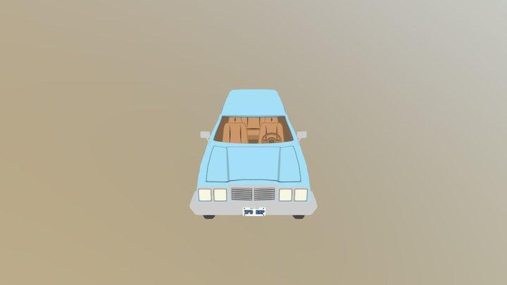 Toon Station Wagon 3D Model