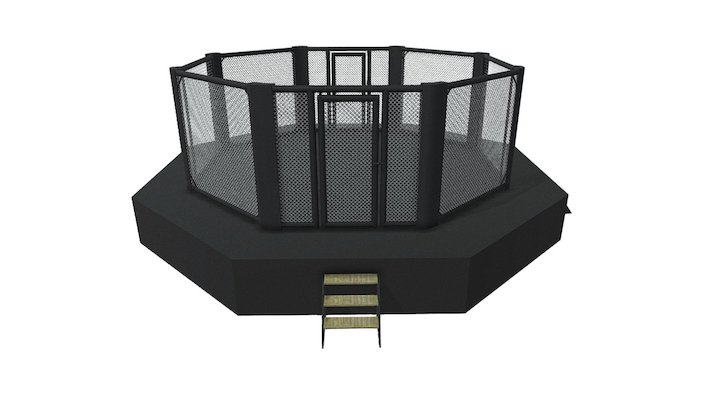 MMA Event Cage With Sidewalk 3D Model
