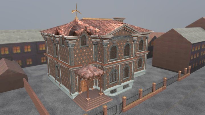 Brick_House_Old 3D Model