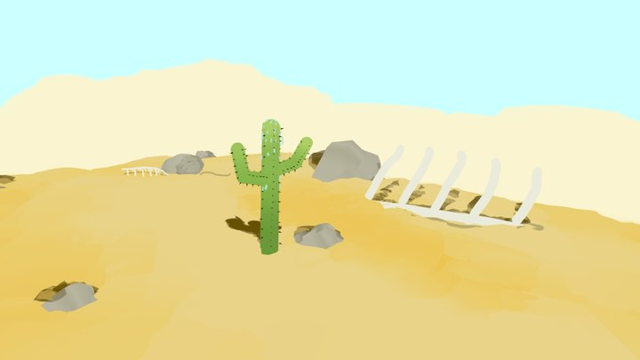Sweaty Cactus 3D Model