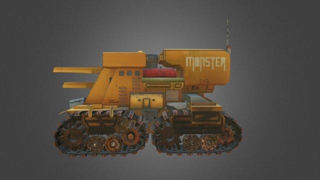 Monster Tank 3D Model
