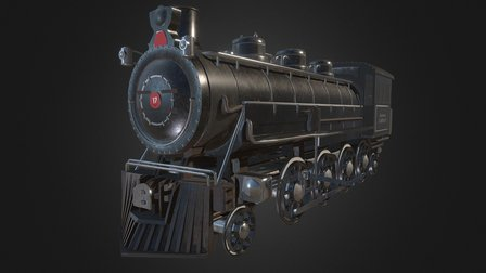 Steam Train [Based of BR 86] 3D Model
