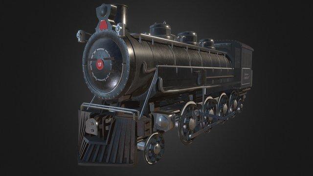 Steam Train [Based of BR 86] 3D Model