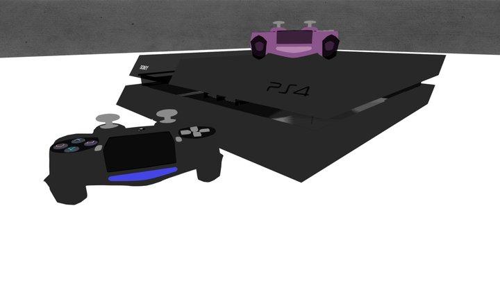 PS4 3D Model