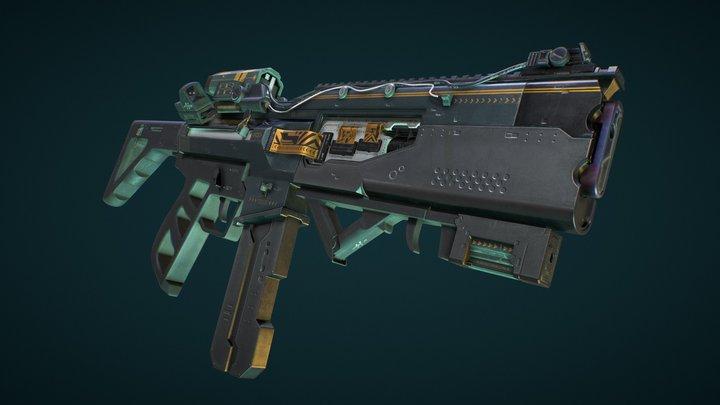 Futuristic Rifle 3D Model