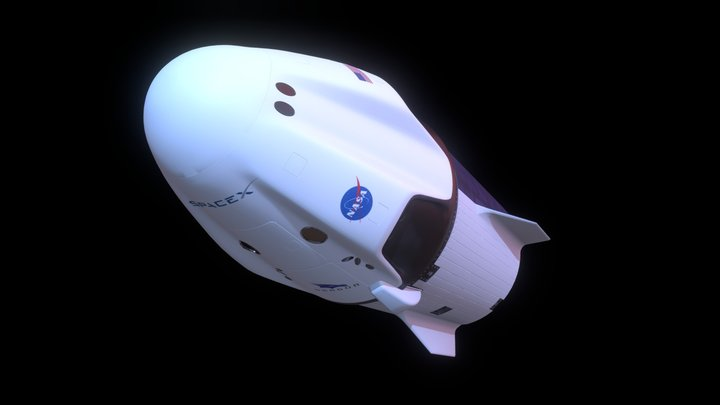 Crew Dragon 3D Model