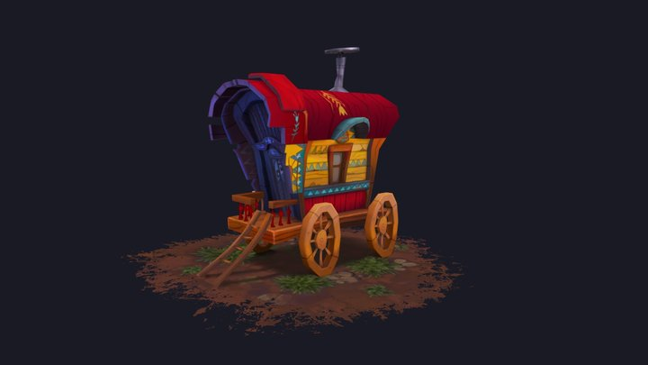 Stylized Caravan 3D Model