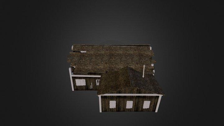 uopt7j5kek-Wood House 3D Model