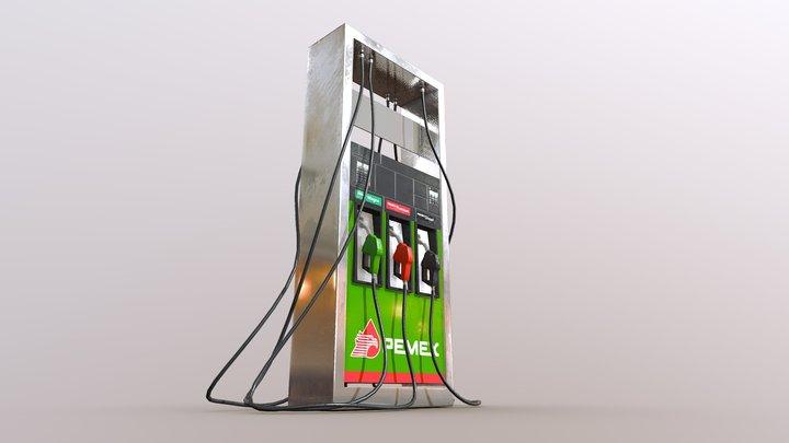 PEMEX Gas Station 3D Model
