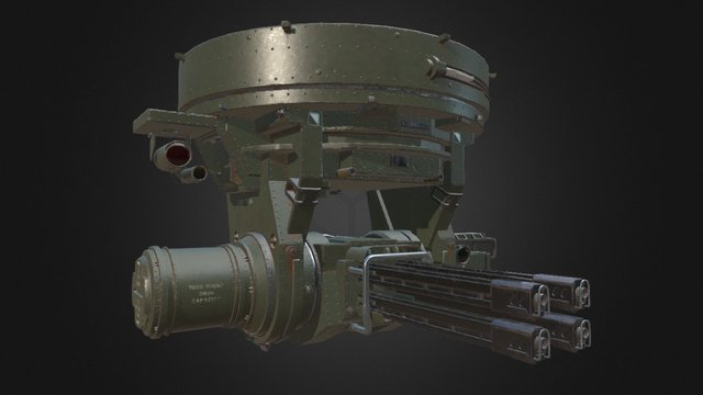 Automated Ceiling Turret 3D Model