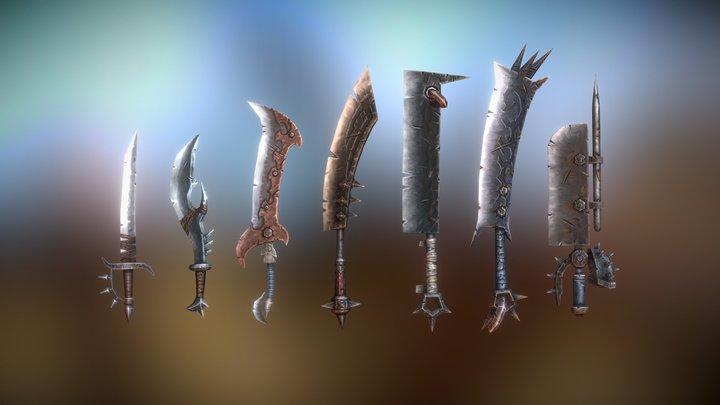 Fantasy Armory - Savage Fantasy Sword Set Vol.1 3D Model