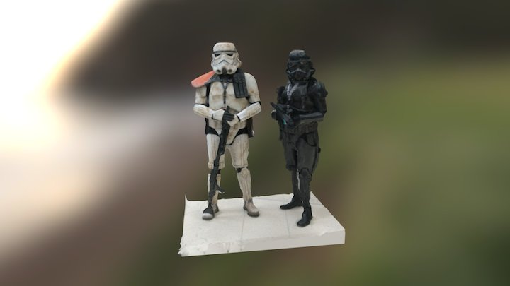 ObeJuan and friend as Imperials from Star Wars 3D Model
