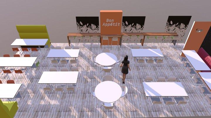 Restaurant d'entreprise 3D Model
