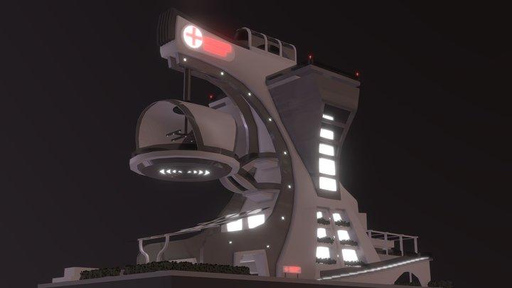 Modern Hospital 3D Model