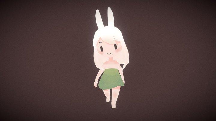 Chibi Bunny 3D Model
