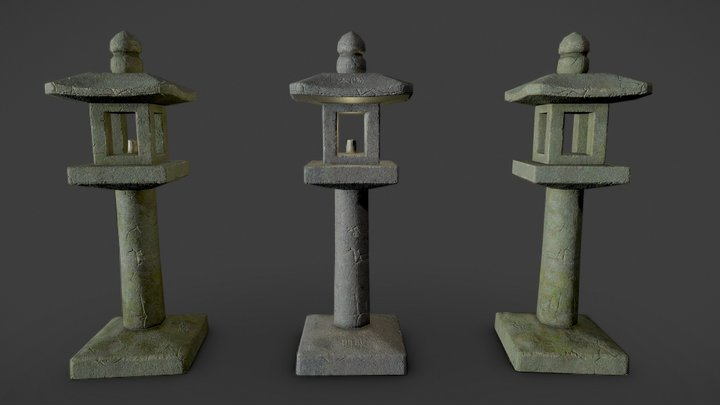 Tachidōrō (立ち灯籠) - Japanese Lantern 3D Model