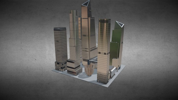 Hudson Yards building complex 3D Model