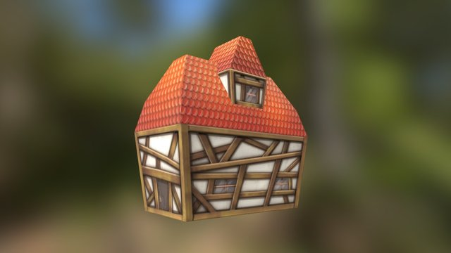 Cottage Low Poly 3D Model