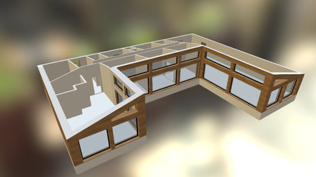 Initial Design Norway no roof with dimensions 3D Model