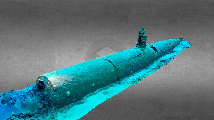M-24 Japanese Midget Submarine, Australia 3D Model