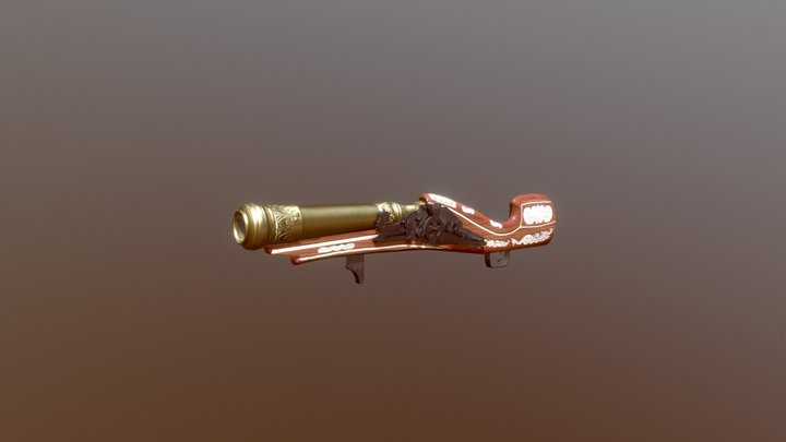 Asian Hand Mortar 3D Model