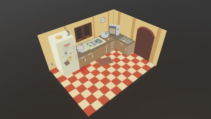 Isometric Kitchen 3D Model
