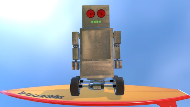 SURFER, ROBOT 3D Model
