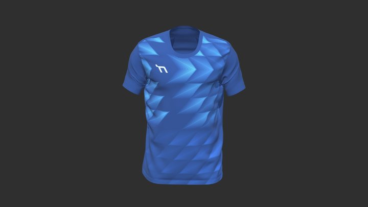 Showy faster blue 3D Model