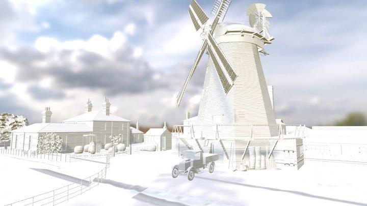 Upminster Windmill in the 1920's 3D Model