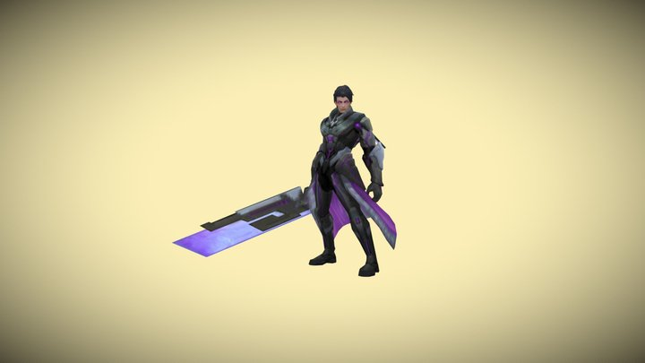 alucarad blade obsidian all animation in game 3D Model