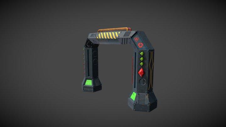 Ending gate 3D Model