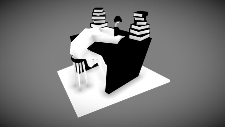 Inktober Exhausted 3D Model