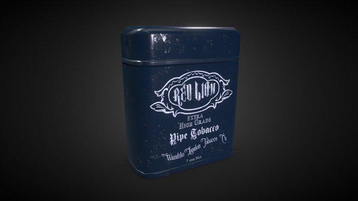 Victorian Tobacco Can 3D Model