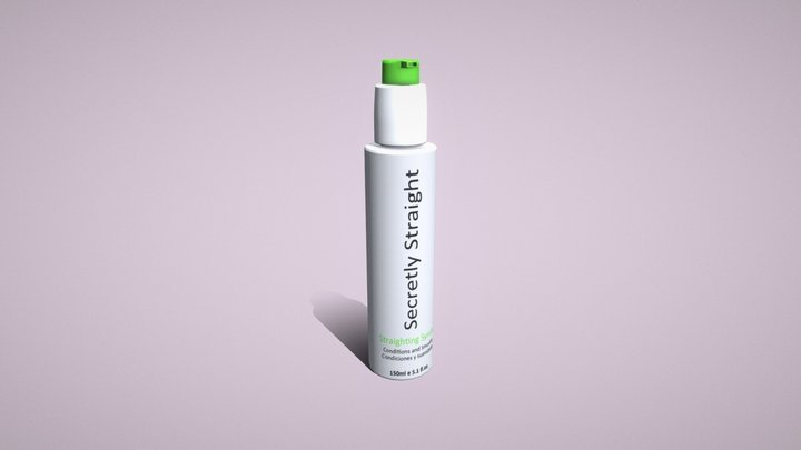 Salon Hair Syrum Bottle 3D Model