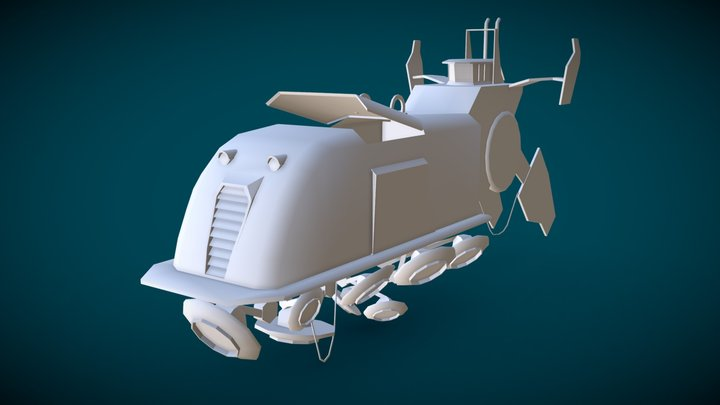 Sci-fi Ship - Stålenhag 3D Model