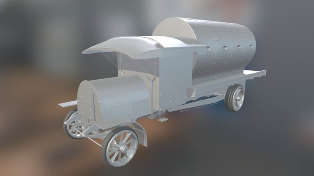 Daimler-Guinness Armoured Lorry 3D Model
