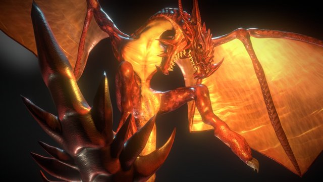 Fire Breathing Dragon 3D Model