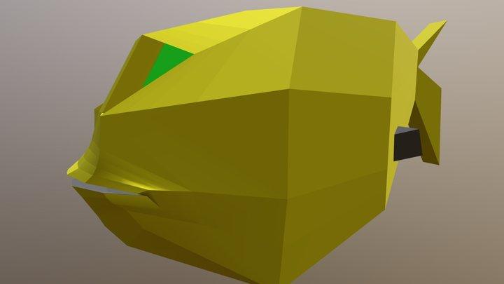 Yellow Fish 3D Model