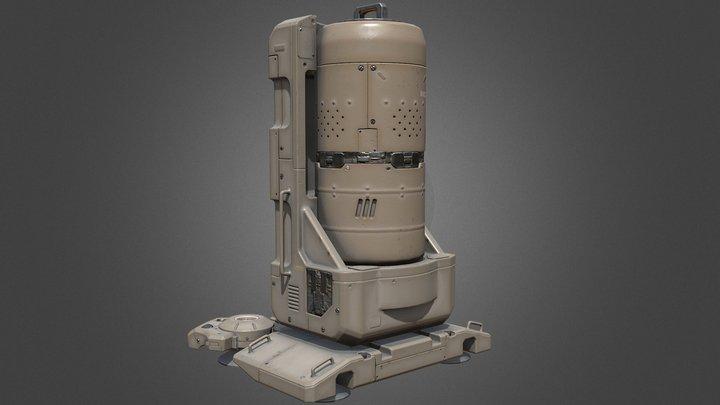 Model528(scifi Energy tank) 3D Model