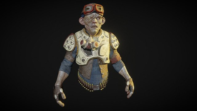 Dust Pirate Textured 3D Model