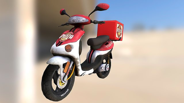Pizza Delivery 3D Model