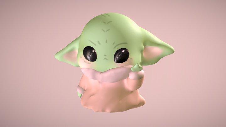 Cute Baby Yoda 3D Model
