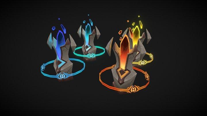 Draenei Totem Set 3D Model