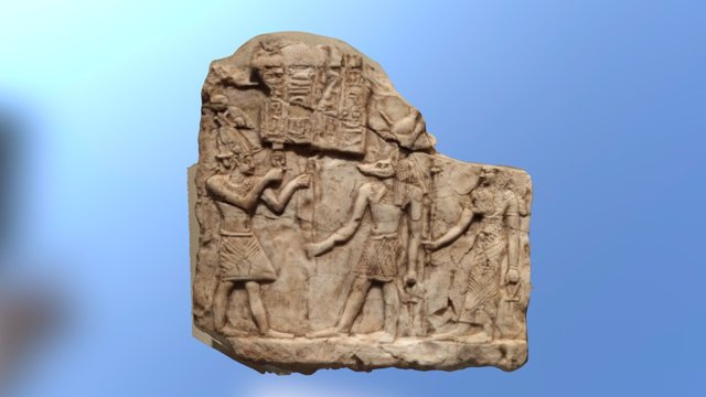 Royal offering stela to Anubis 3D Model